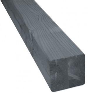 Poteau bois lamellé-collé gris anthracite