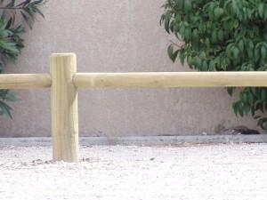 Poteau bois intermédiaire Domaine 1 lisse