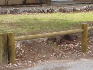 Poteau bois d'extremité Domaine 1 lisse