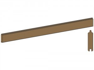 Lame clin Mios 36x135 mm longueur 1,92 m