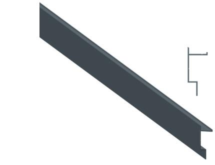 Profil de fixation pour la pose des panneaux sur les poteau alu Tokyo