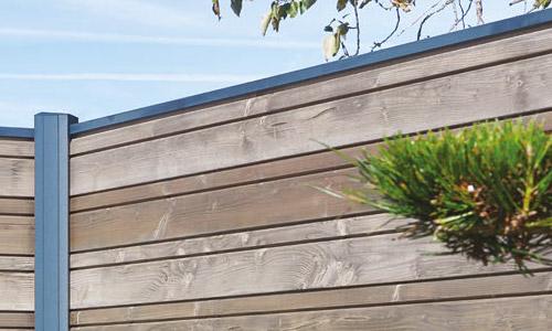 Lames empilables en bois Douglas avec le poteau Aluminium Tokyo