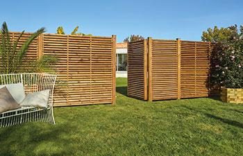 Clôtures et panneaux bois technologie Durapin