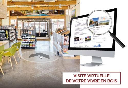 Vivite virtuelle à 360° de votre magasin Vivre enBois La Roche sur Yon